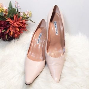Charles David Pointed-Toe Leather Pumps